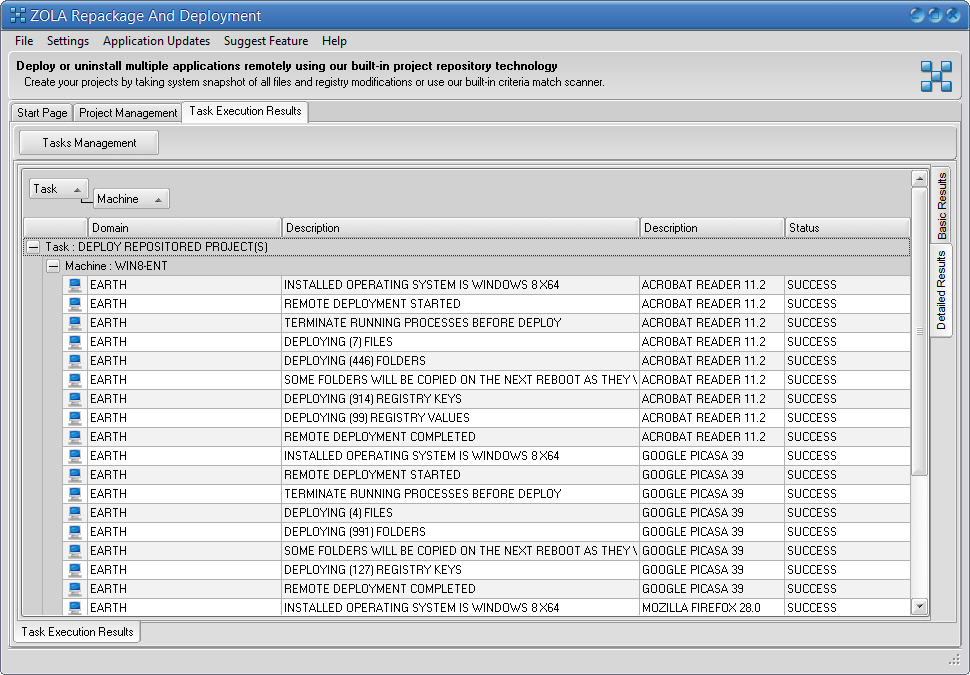 You can export Remote Task Execution results into various export formats including, xml, html, txt etc...